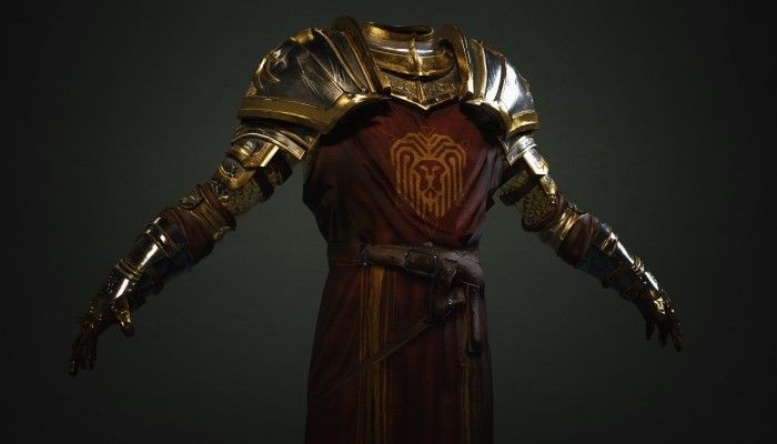 Ashes of Creation Team Reveals the Regalia of the Iron Lion Armor Set - MMORPG.com